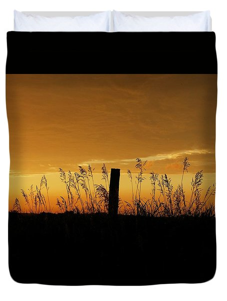 Atchison Sunset Duvet Cover by Dustin Soph