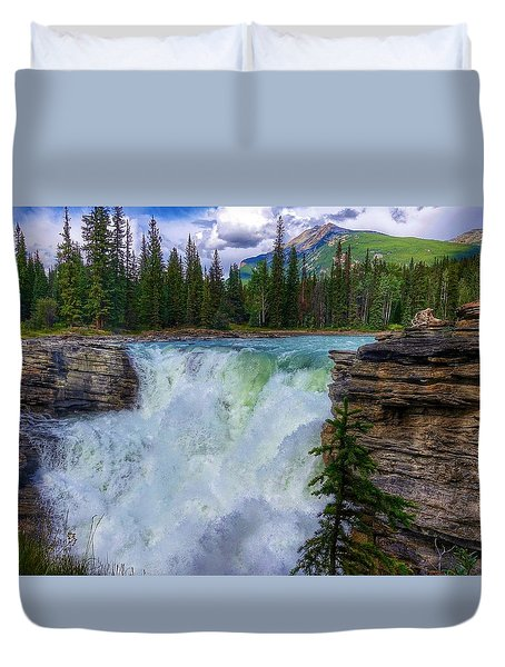 Athabasca Falls, Ab  Duvet Cover by Heather Vopni