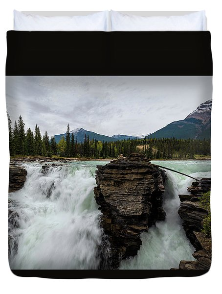 Athabasca Falls Duvet Cover