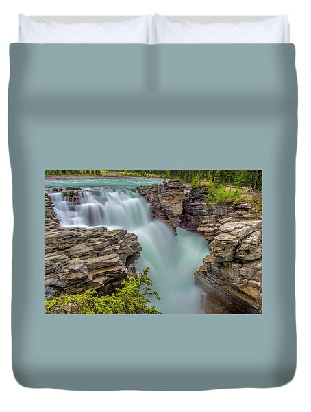 Athabasca Falls Duvet Cover by Patrick Boening