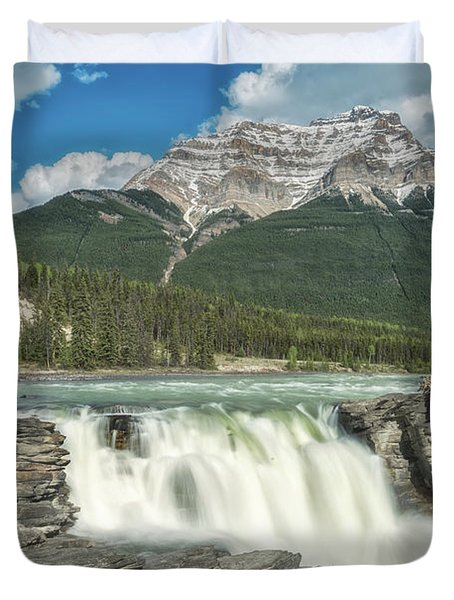 Athabasca Falls Duvet Cover