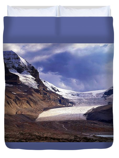 Athabasca Glacier Duvet Cover by Heather Vopni