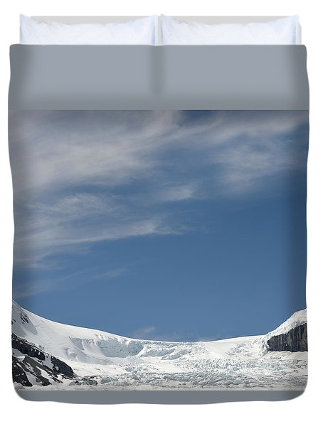 Athabasca Glacier Vista Duvet Cover