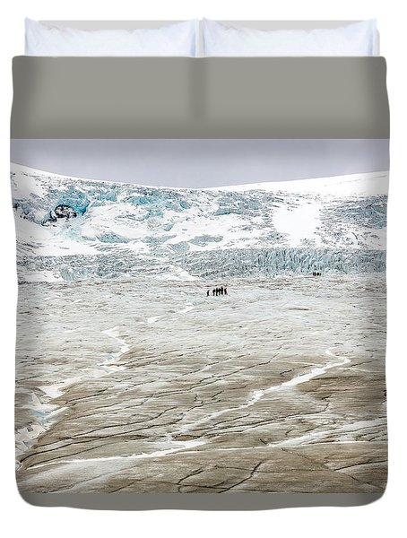 Athabasca Glacier With Guided Expedition Duvet Cover