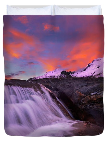 Athabasca On Fire Duvet Cover