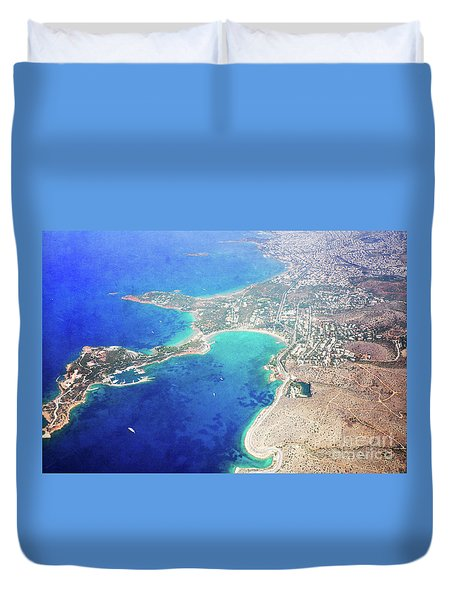 Athens From Above Duvet Cover