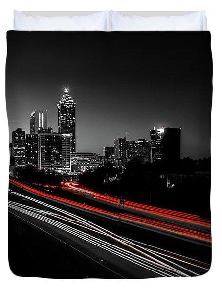 Atlanta Black And White Duvet Cover