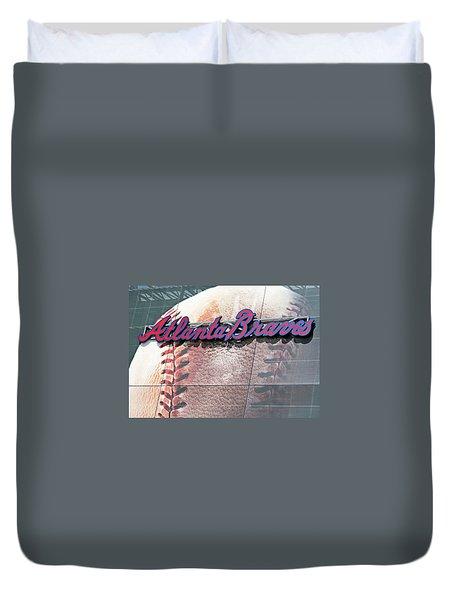 Atlanta Braves Duvet Cover by Kristin Elmquist