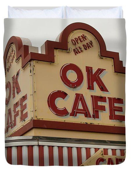 Atlanta Classic Ok Cafe Atlanta Restaurant Art Duvet Cover