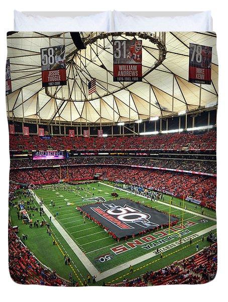 Atlanta Falcons Georgia Dome Duvet Cover