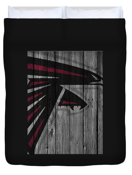 Atlanta Falcons Wood Fence Duvet Cover