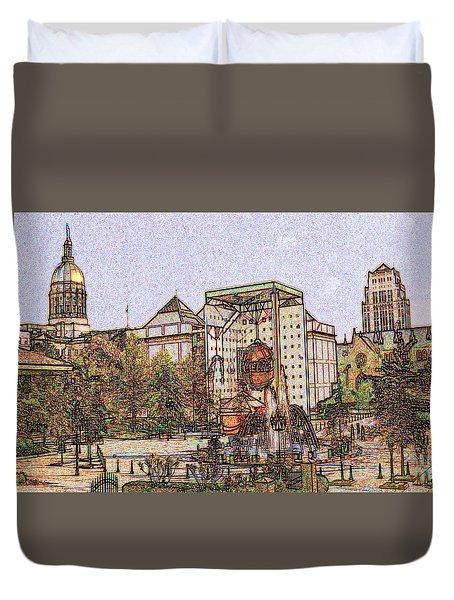 Atlanta Georgia Usa - Color Pencil Duvet Cover