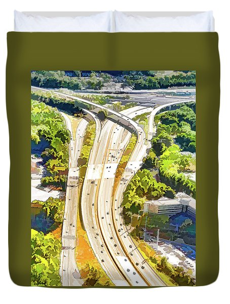Atlanta Highways Duvet Cover
