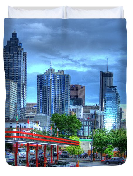 Atlanta Landmark The Varsity Art Duvet Cover