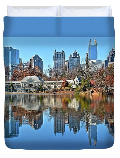 Atlanta Reflected Duvet Cover by Frozen in Time Fine Art Photography