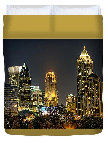 Atlanta Skyscrapers  Duvet Cover by Anna Rumiantseva