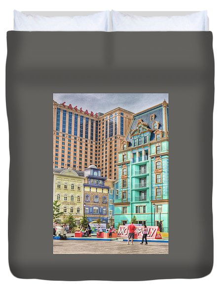 Duvet Cover featuring the photograph Atlantic City Boardwalk by Matthew Bamberg