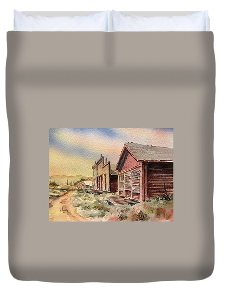 Atlantic City Ghost Town Wyoming Duvet Cover by Kevin Heaney