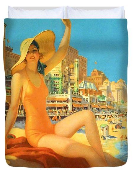 Atlantic City  Duvet Cover by Georgia Fowler