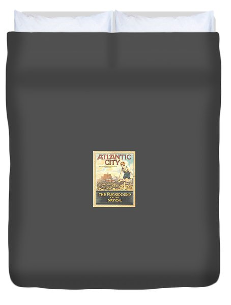 Atlantic City The Playground Of The Nation Duvet Cover by NewJerseyAlmanac