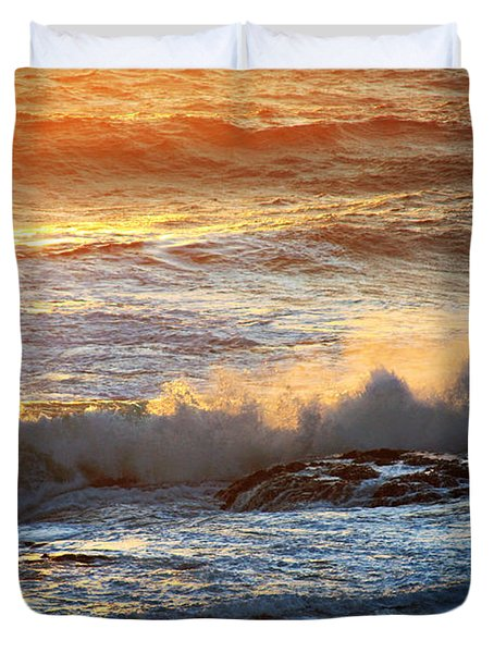 End Of The Day In Newfoundland Duvet Cover