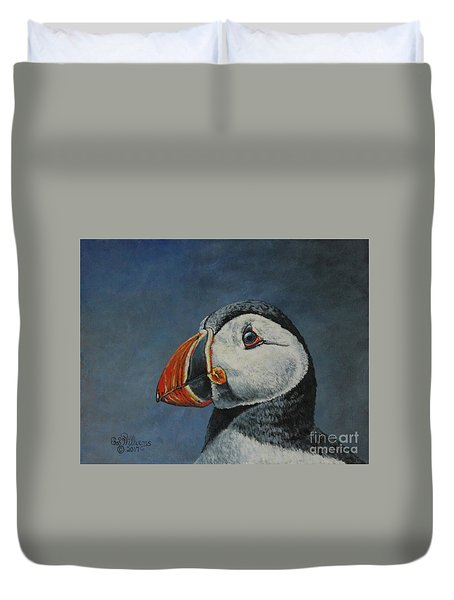 Atlantic Puffin Duvet Cover