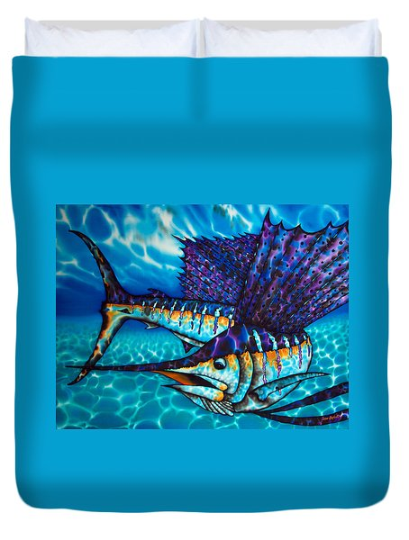 Atlantic Sailfish Duvet Cover