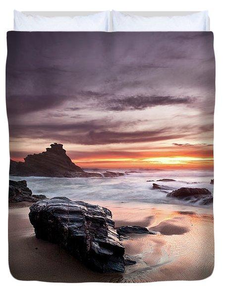 Atlantic Seashore Duvet Cover by Jorge Maia