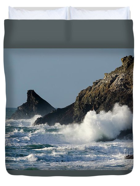 Atlantic Splash Duvet Cover by Steev Stamford