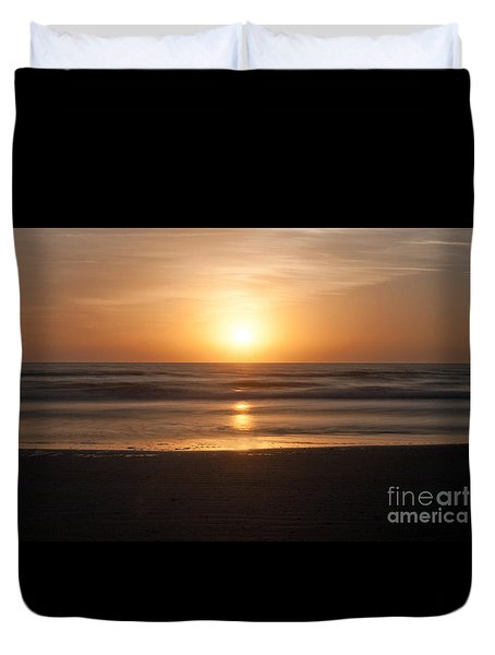 Atlantic Sunrise Duvet Cover by Marion Johnson