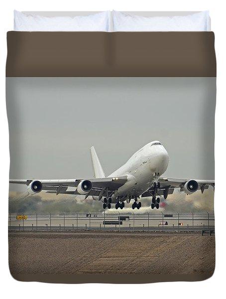 Atlas Air Boeing 747-45e-sf N473mc Phoenix Sky Harbor December 24 2015 Duvet Cover