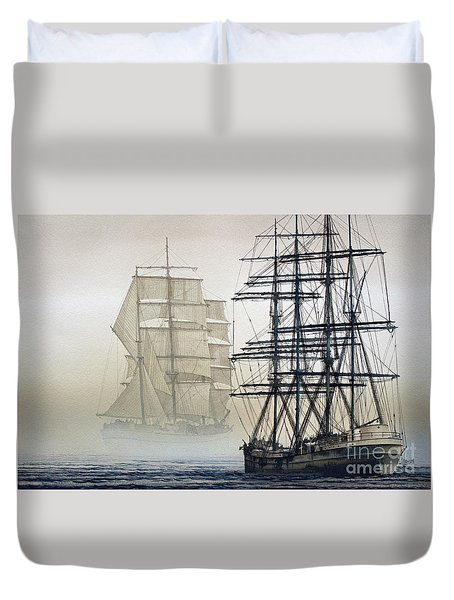 Atlas And Inverclyde Duvet Cover by James Williamson