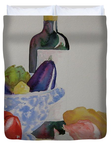 Duvet Cover featuring the painting Atlas by Beverley Harper Tinsley