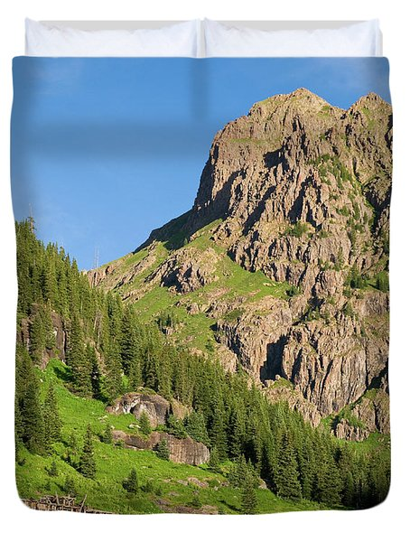 Duvet Cover featuring the photograph Atlas Mine by Steve Stuller