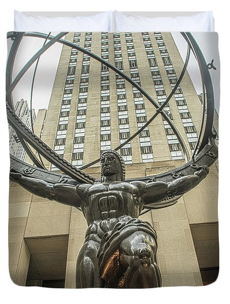 Atlas Rockefeller Center Duvet Cover by Timothy Lowry