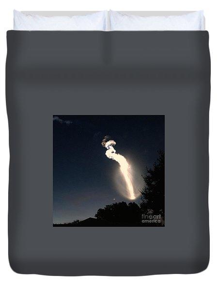 Atlas V Launch Flare Duvet Cover