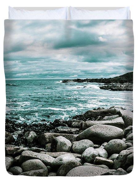 Atmosphere In A Looming Sea Storm Duvet Cover