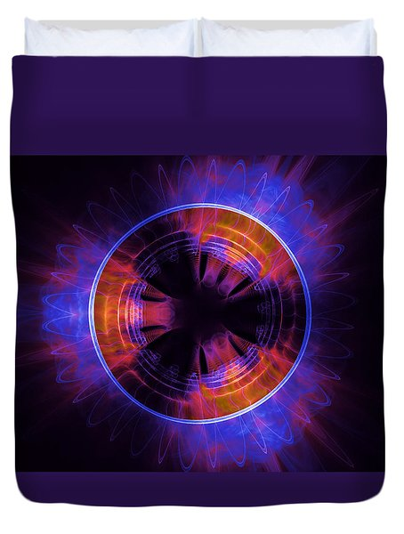 atmospheric Burner with Gas Flames Duvet Cover