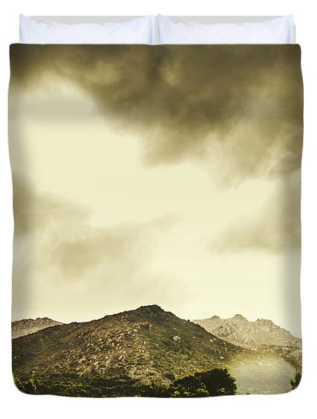 Atmospheric Hills And Valleys Duvet Cover