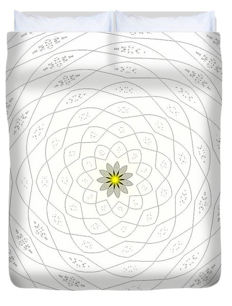 Atomic Lotus No. 1 Duvet Cover by Bob Wall