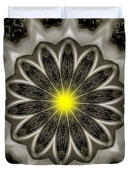 Atomic Lotus No. 2 Duvet Cover by Bob Wall