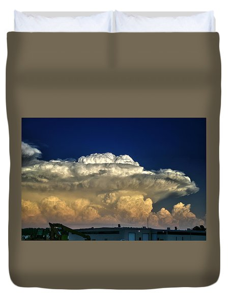 Atomic Supercell Duvet Cover by James Menzies