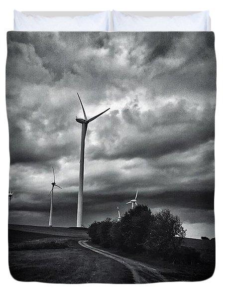 Atomlos Durch Die Nacht... #landschaft Duvet Cover
