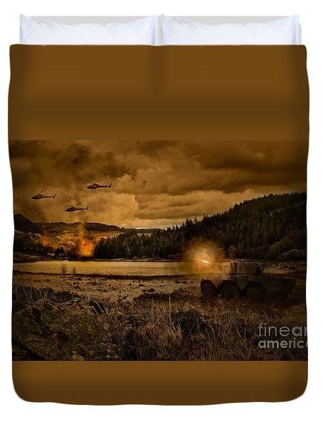 Attack At Nightfall Duvet Cover by Amanda Elwell