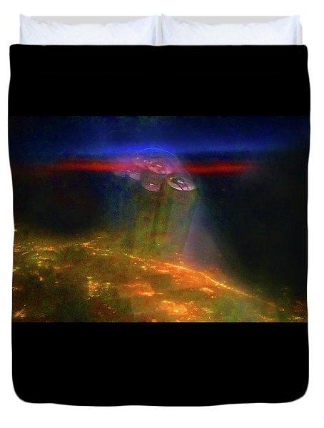 Attack Of The Aliens Duvet Cover