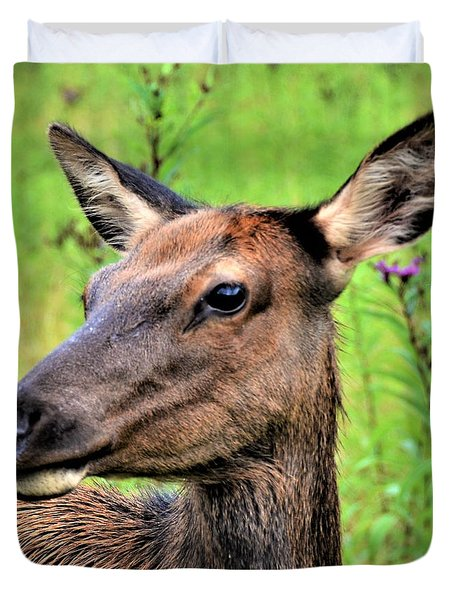 Attentive Yearling Duvet Cover