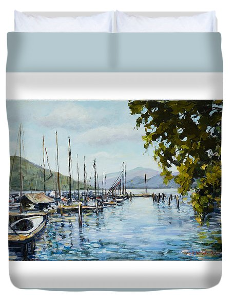 Attersee Austria Duvet Cover