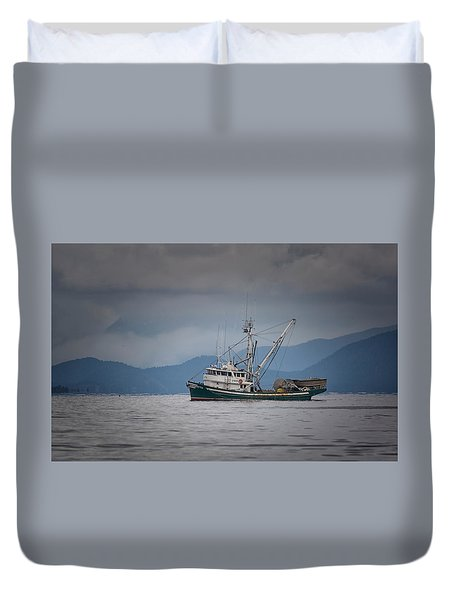 Attu Off Madrona Duvet Cover by Randy Hall