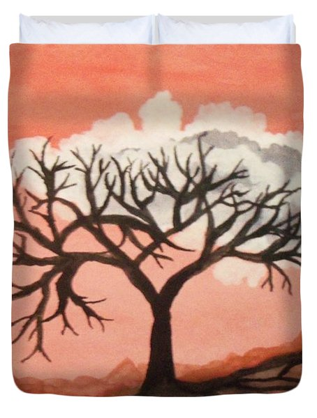 Atumn Trees Duvet Cover by Connie Valasco