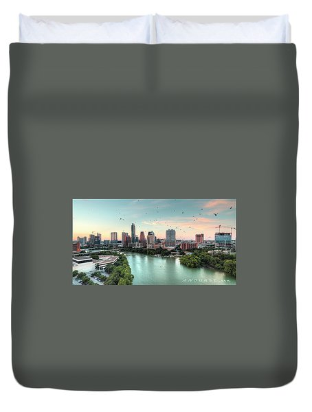 Atx Bats Duvet Cover by Andrew Nourse